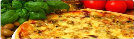 רקע פיצה הקוסם האיטלקי