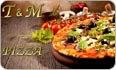 לוגו פיצה M & T בת ים