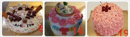 רקע אגדה מתוקה של עוגות